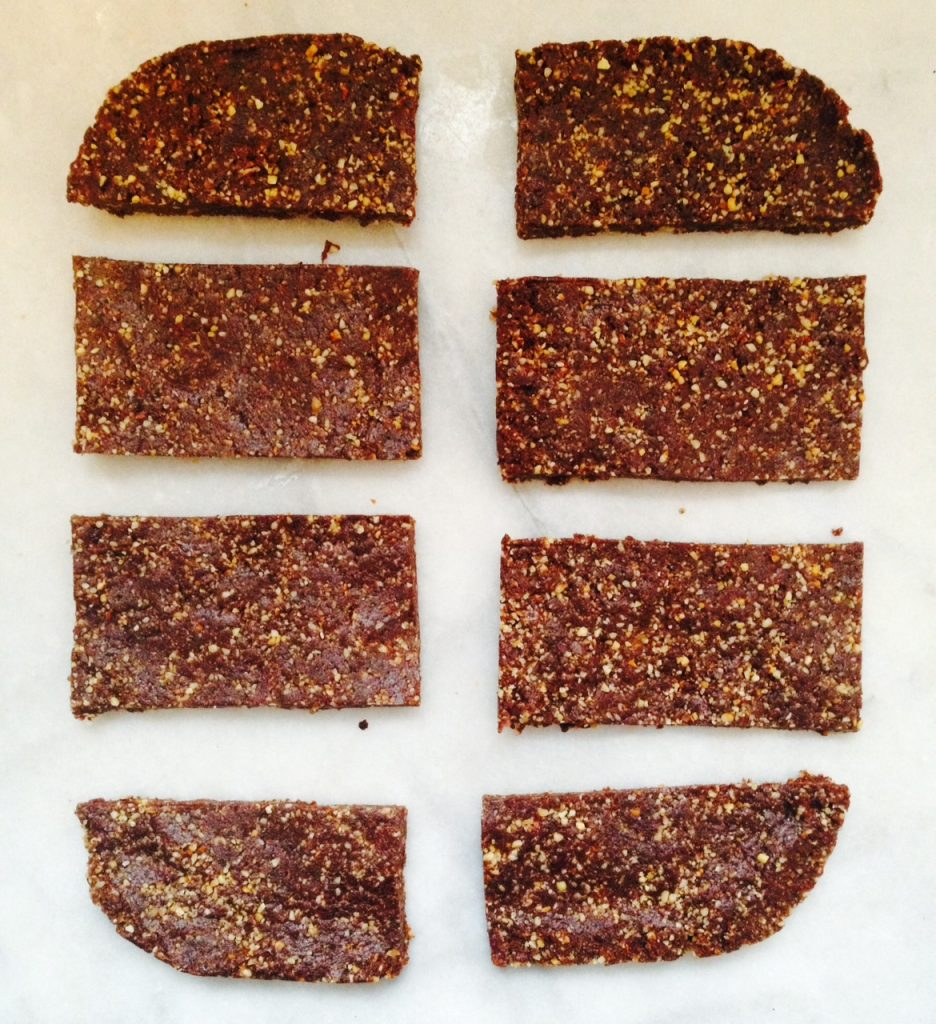Raw Salted Almond Chocolate Snack Bars | The Full Helping