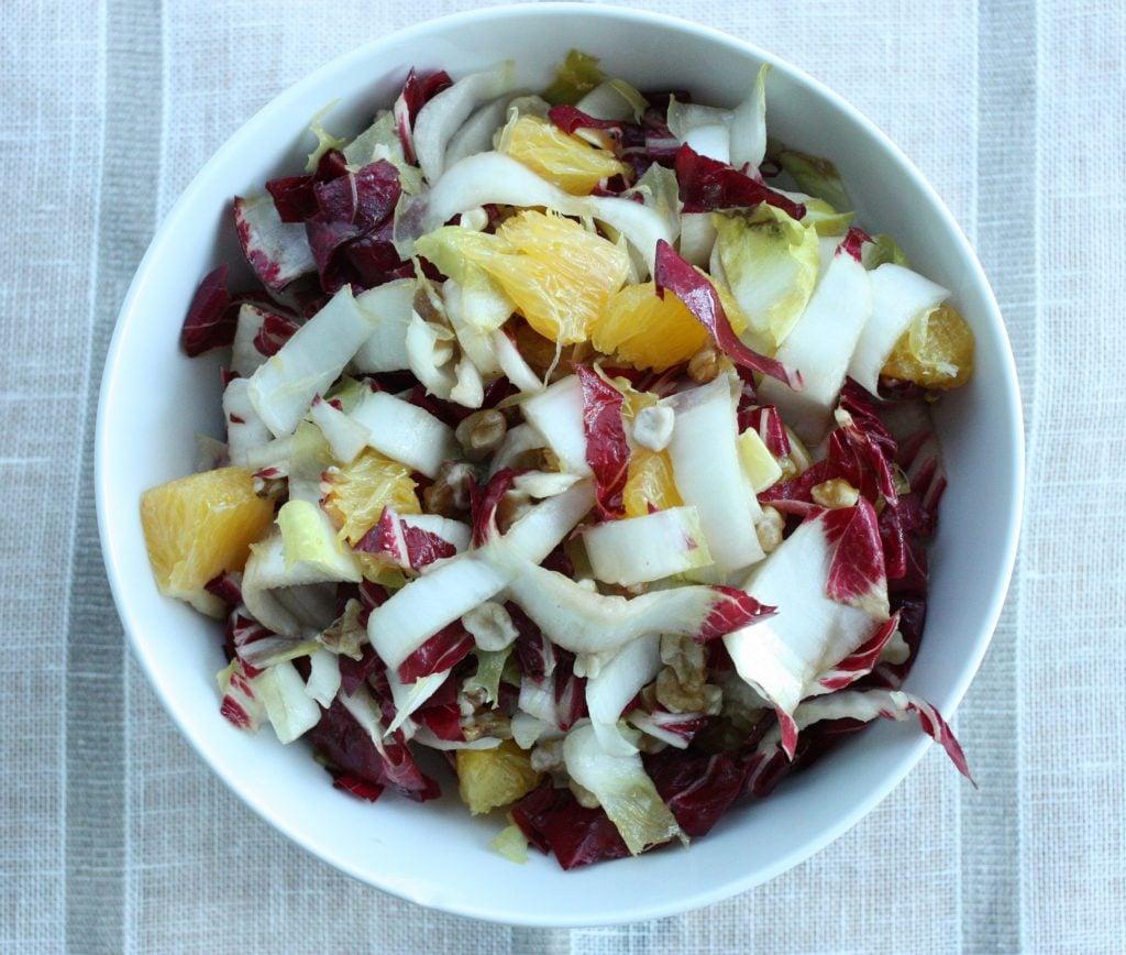radicchio salad with endive orange walnuts