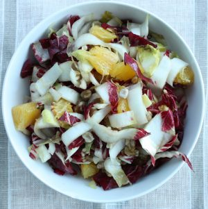 Radicchio Salad with Endives, Orange, and Walnuts