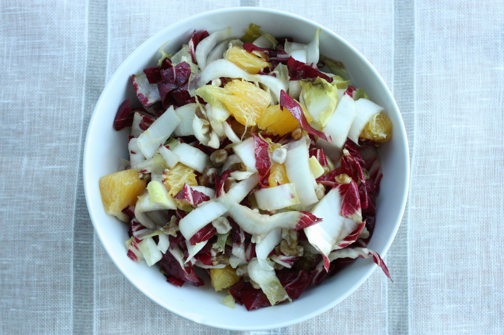 radicchio salad with endive orange walnuts horizontal