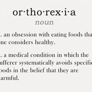 NEDA Week 2014: Considering Orthorexia