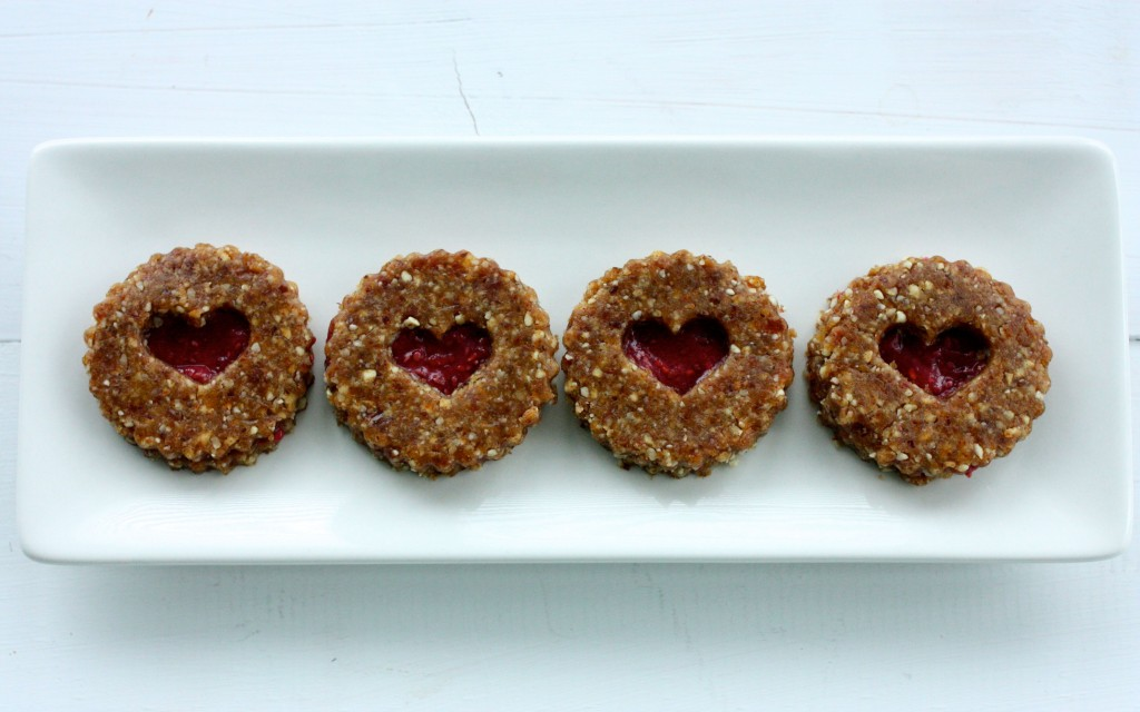 raw vegan linzer hearts 2