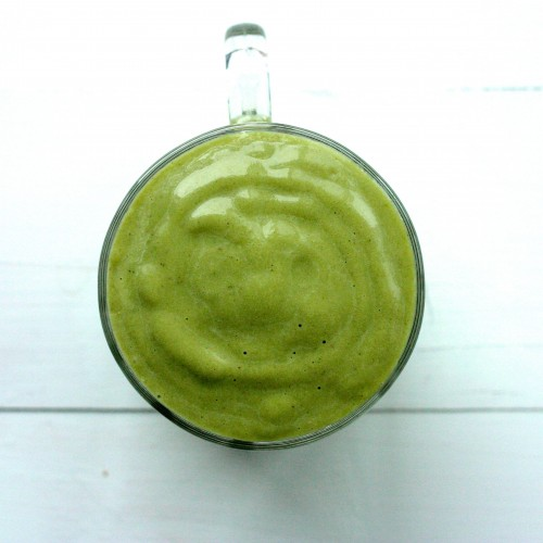 Matcha avocado vanilla smoothie 1