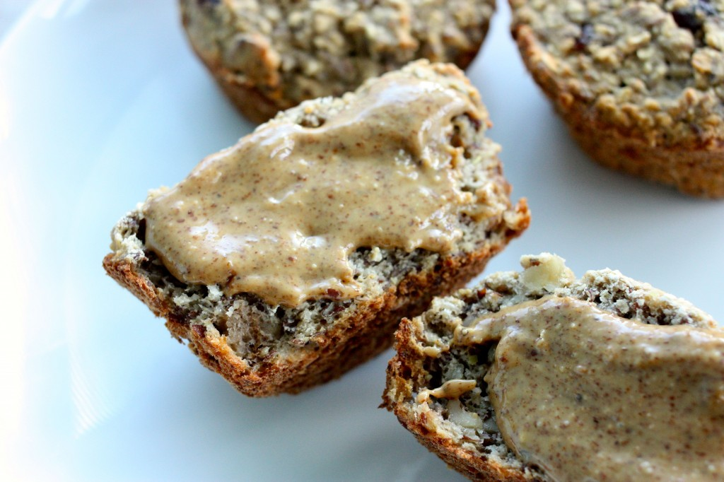 banana protein muffin vegan close up