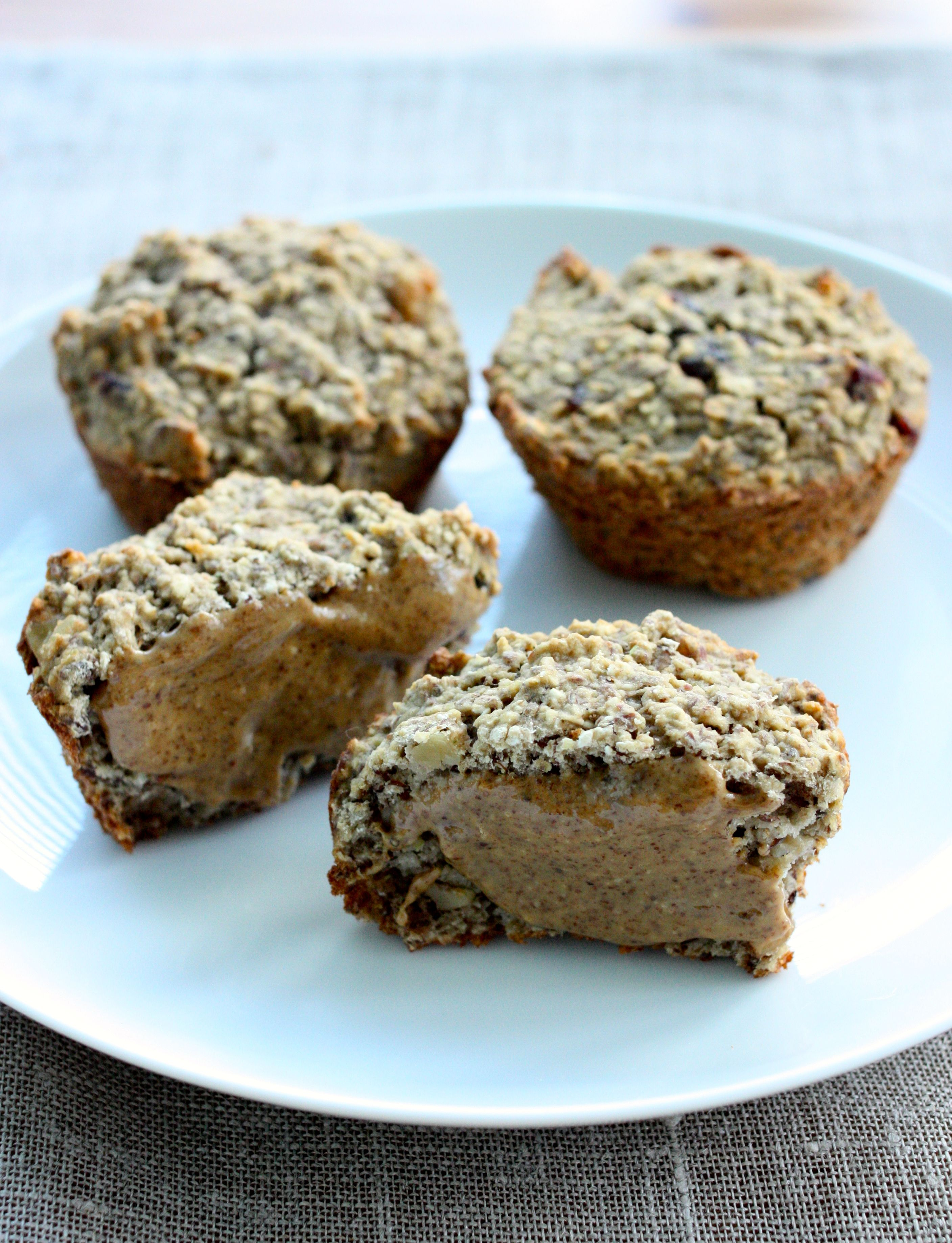 Banana Oat Muffins Gluten Free Higher Protein Option The Full Helping