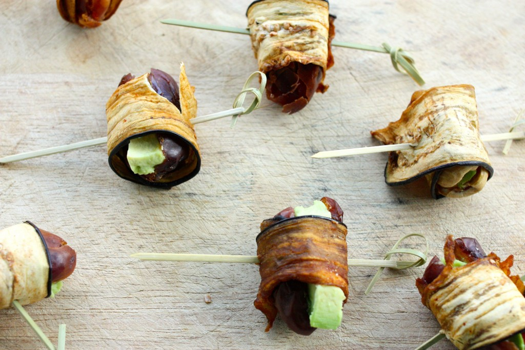 eggplant bacon wrapped dates