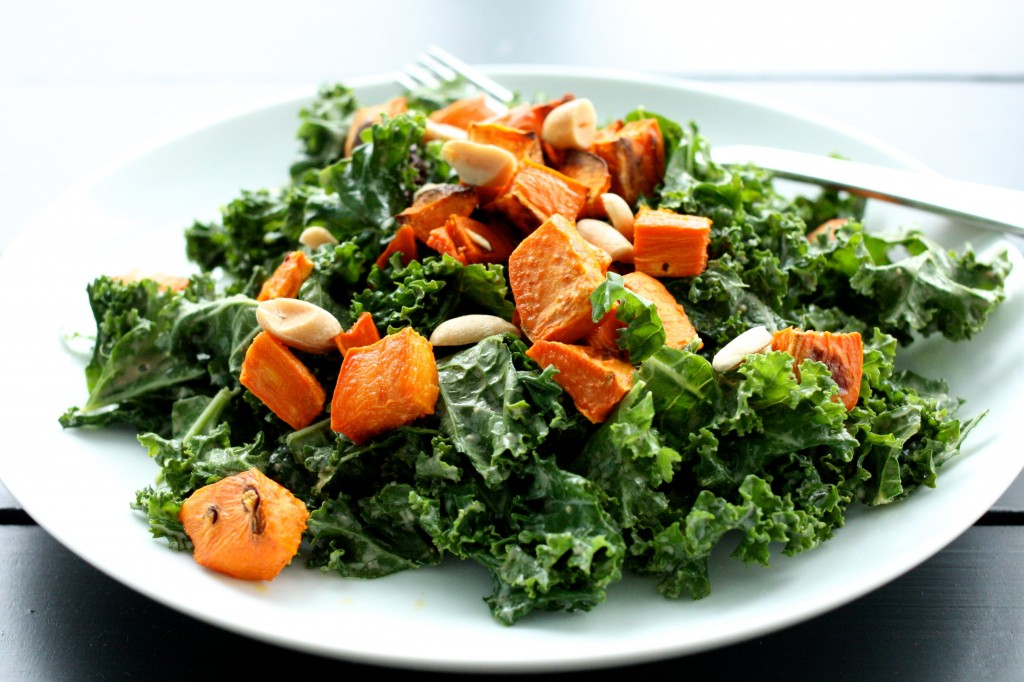 Spicy Peanut Kale Salad close