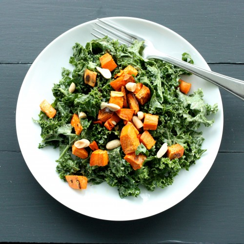 Spicy peanut kale salad 2