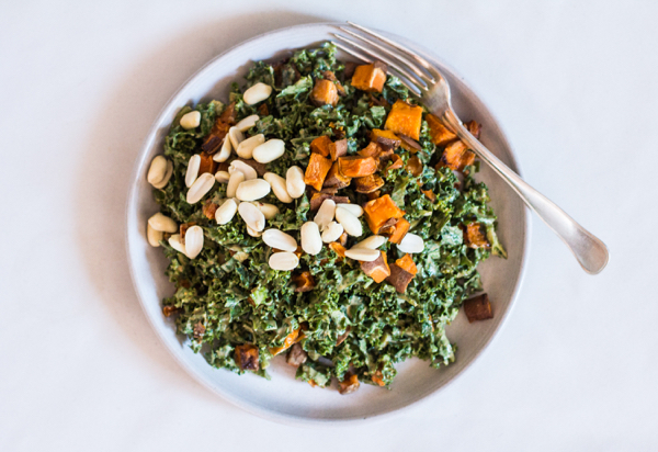 Spicy Peanut Kale Salad | The Full Helping