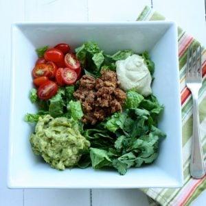 Raw, Vegan Taco Salad