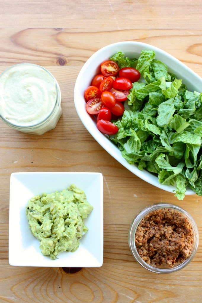 raw vegan taco salad ingredients