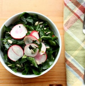 Raw Collard Green Salad (and a New Look)