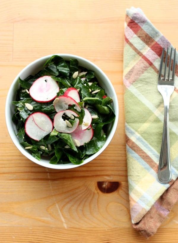 Raw Collard Green Salad // Choosing Raw