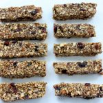 No Bake Cranberry Almond Chia Snack Bars