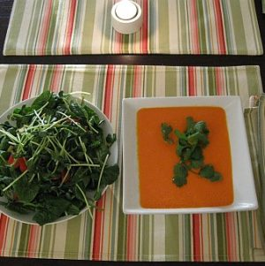 Raw Red Pepper and Coconut Soup