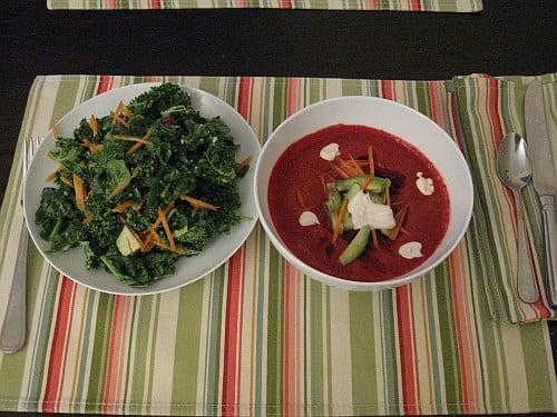 raw borscht dinner