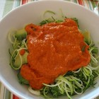 zucchini marinara close