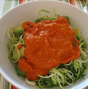 Raw Zucchini Marinara