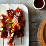 The New Veganism: Tempeh Kebabs with Homemade Barbecue Sauce