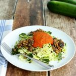 Zucchini Noodle Marinara with Lentils