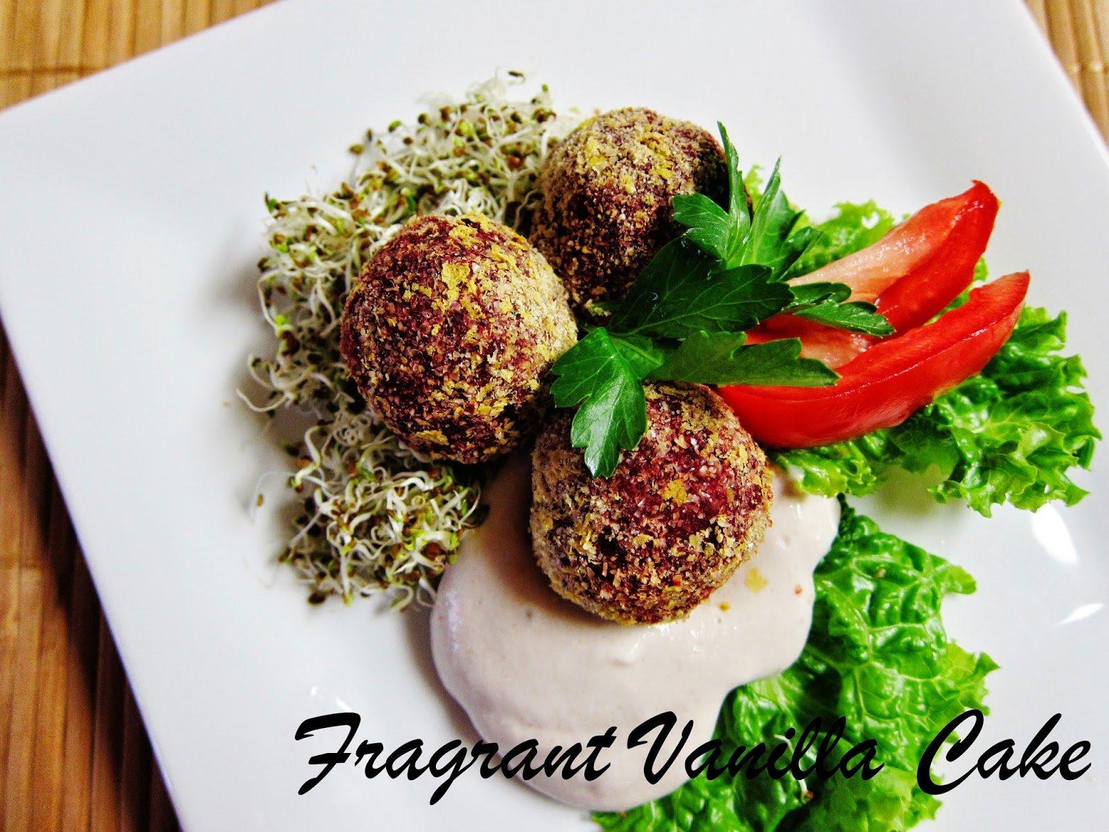 Raw Beet Falafel