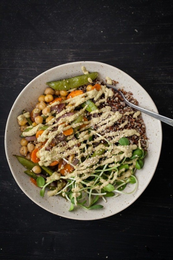 Roasted-Vegetables-and-Chickpea-Bowl-with-Cilantro-Cashew-Cream-6-of-8-666x1000