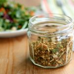 Spicy Brussels Sprout & Pumpkin Seed Salad Topper