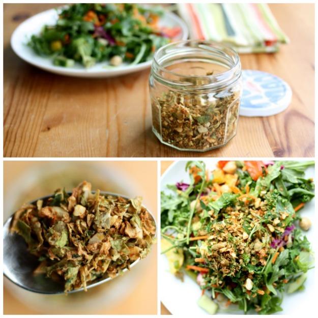 Spicy Brussels Sprout & Pumpkin Seed Salad Topper | The Full Helping