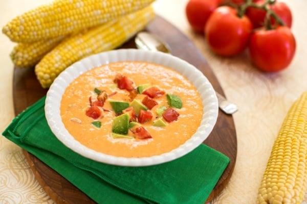 Corn Chowder // Choosing Raw