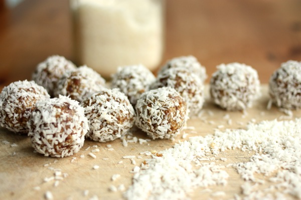 how to make coconut stick to truffles