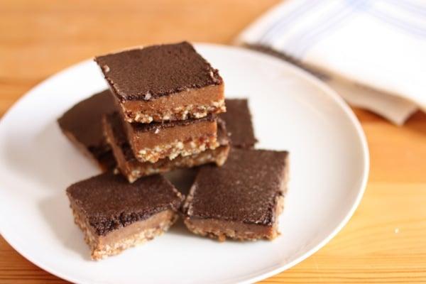 raw vegan caramel mocha bars from Emily Von Euw // choosing raw