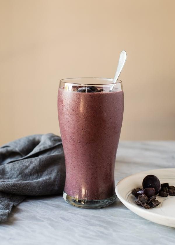 Cherry-Chocolate-Vegan-Protein-Shake-2