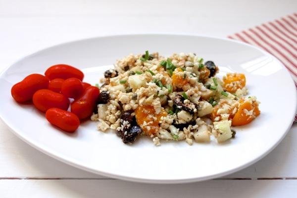Raw cauliflower rice nicoise / Choosing Raw