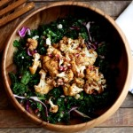 Spice Rubbed Cauliflower, Kale, and Pomegranate Salad