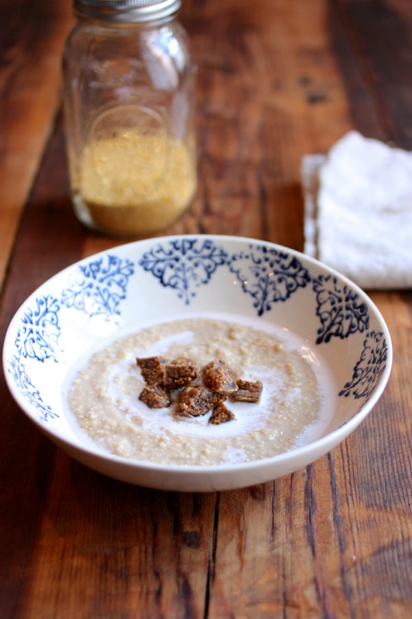 Creamy millet, coconut, and ginger porridge // Choosing Raw