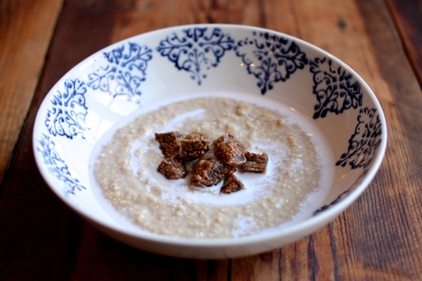 Cream of millet, coconut, and ginger porridge // Choosing Raw