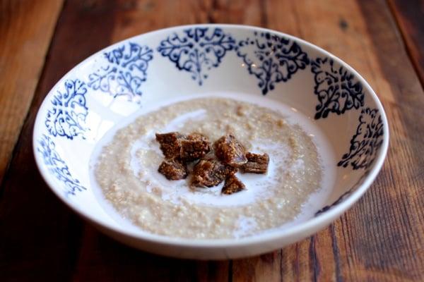 Cream of millet, coconut, and ginger porridge // Choosing Raw