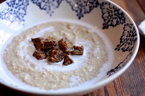 Creamy millet, coconut, and ginger porridge // Choosing Raw