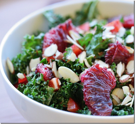 Blood Orange Kale Salad // Choosing Raw | The Full Helping