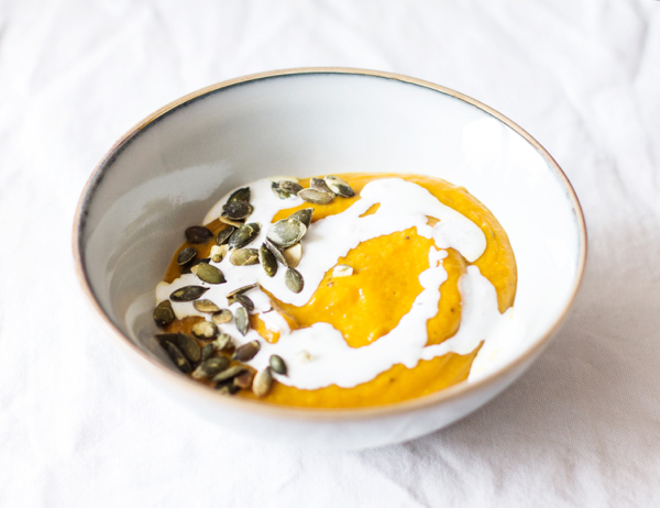 Roasted Kabocha Squash and Pear Bisque | The Full Helping