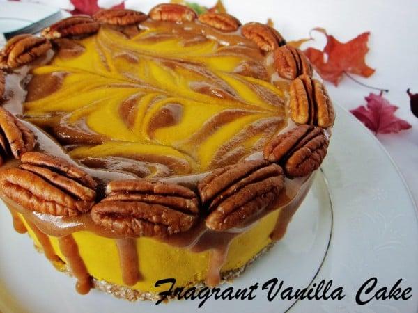 Sweet Potato Caramel Pecan Cake 1