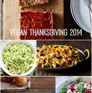 My Vegan Thanksgiving Menu, 2014