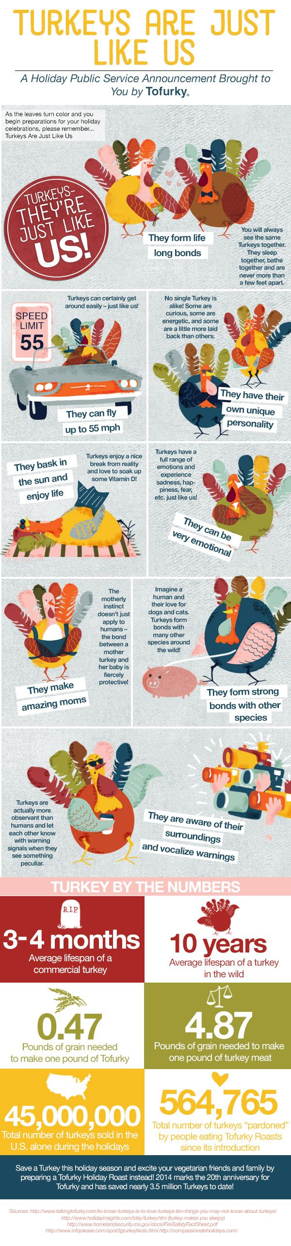 tofurkey infographic