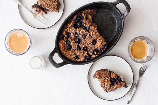 Blueberry, Banana & Walnut Oat Bake | The Full Helping