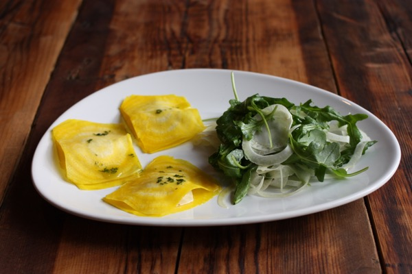 Golden Beet Ravioli with Pine Nut Cheese | The Full Helping