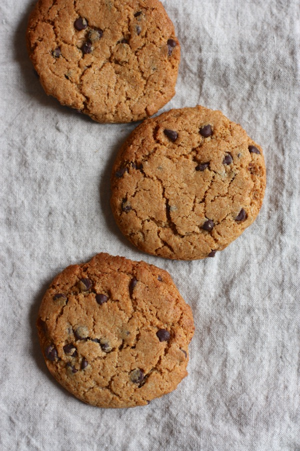Vegan Almond Butter Chocolate Chip Cookies from HIIT It! // Choosing Raw