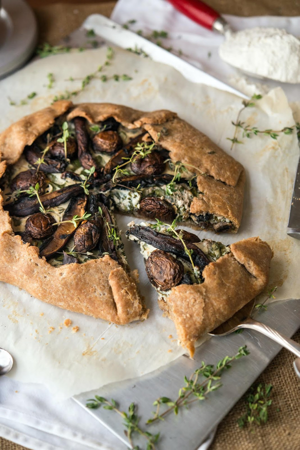 Jessica Nadel's Spinach and Mushroom Galette