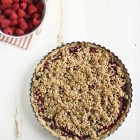 Vegan and GF raspberry crumble tart