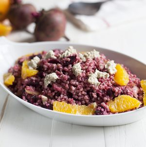 Buckwheat, Beet, and Citrus Salad with Crumbled Sunflower Feta