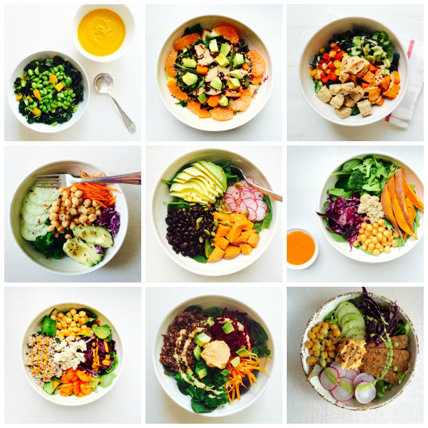 choosing raw lunch bowls